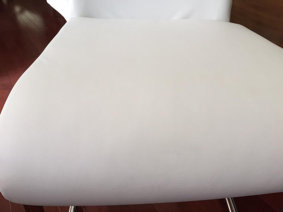 modern ivory white faux leather dining chairs nepean ottawa