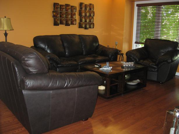 Living room sofas and tables set