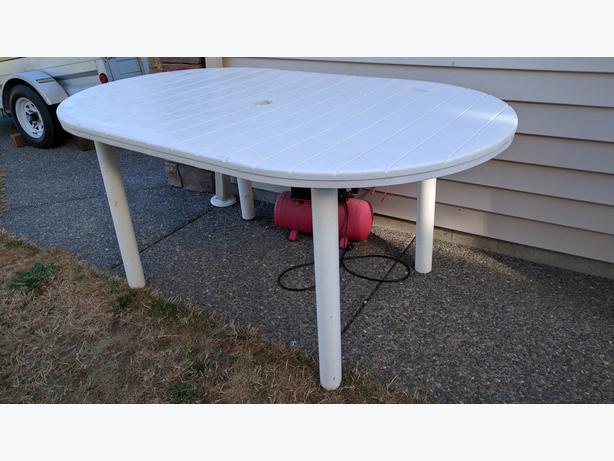 Sturdy Plastic Patio Table Courtenay Comox Valley