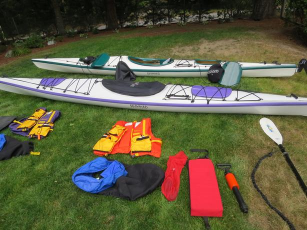 2   - 17' TYEE FIBERGLASS KAYAKS BY SEAWARD