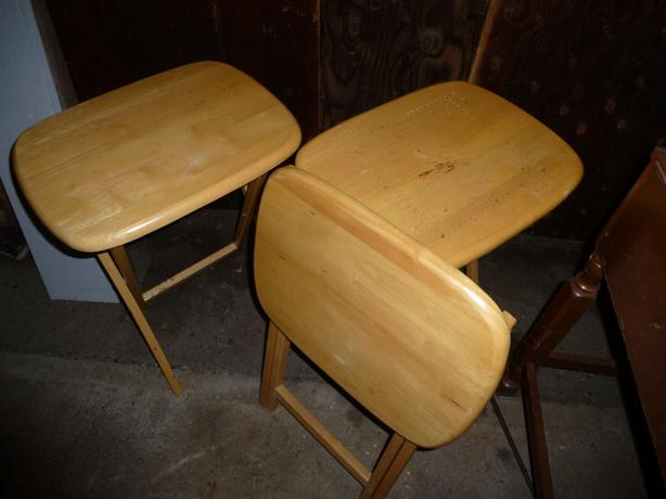 Foldable side tables - $15 each