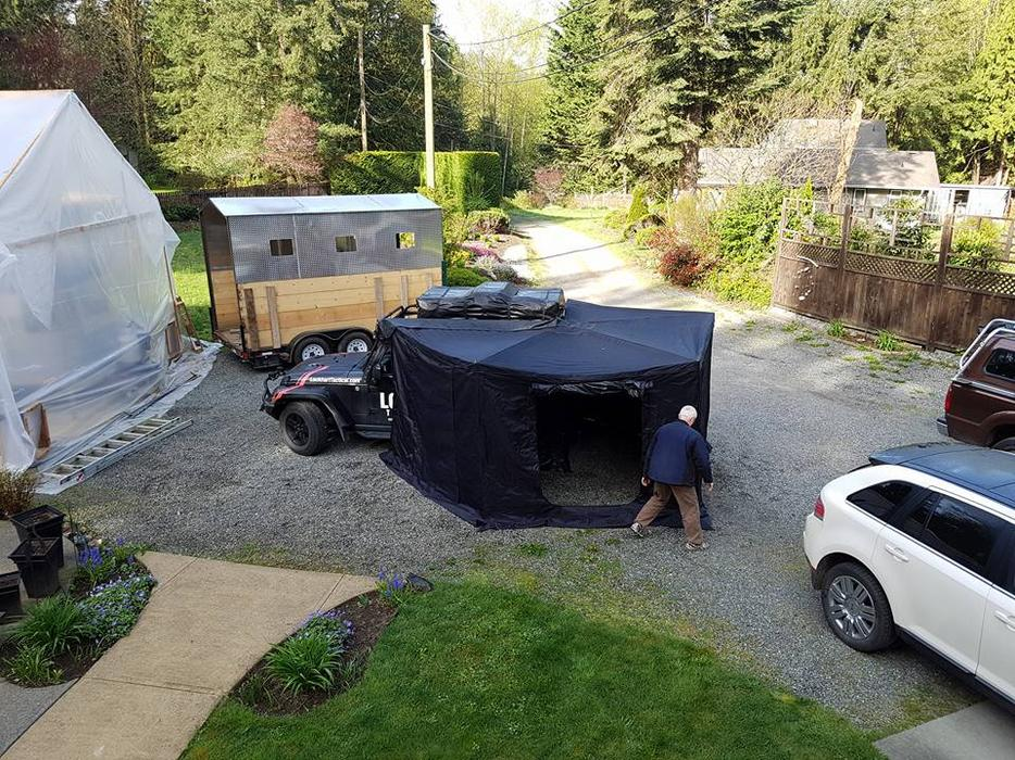 Rooftop Tent Annex Foxwing Awning Walls Black