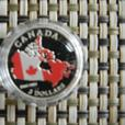 2015 . $3. FINE SILVER COIN. 50TH ANNIVERSARY OF CANADIAN FLAG