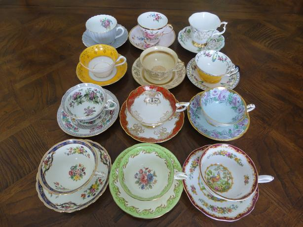 Tenth Lot of VINTAGE England Bone China Tea Cup and Saucer Sets