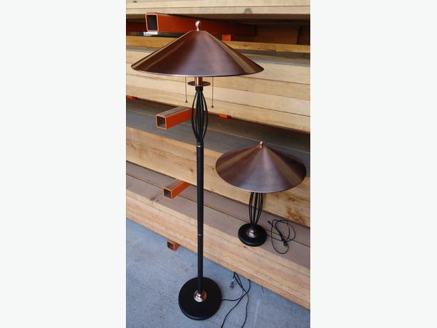 matching floor lamp table lamp outside victoria victoria. Black Bedroom Furniture Sets. Home Design Ideas