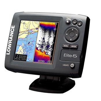 Lowrance elite 5 fish finder chart plotter with extras for Used fish finders