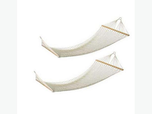 Large 2-Person Rope Hammock Set of 2 Brand New
