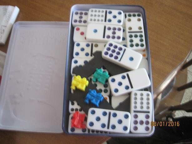 Double Twelve Dominoes Mexican Train Set