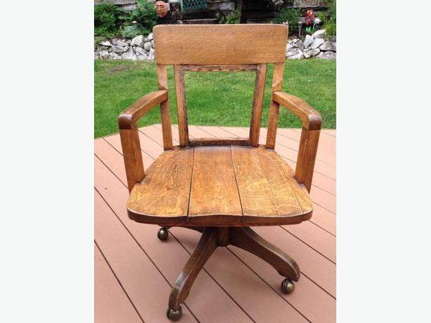 Antique Oak Office Chair