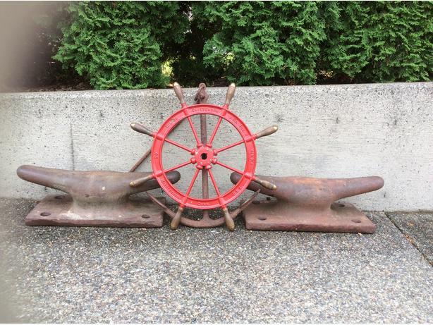 Vintage Wilcox Crittenden Ship Wheel