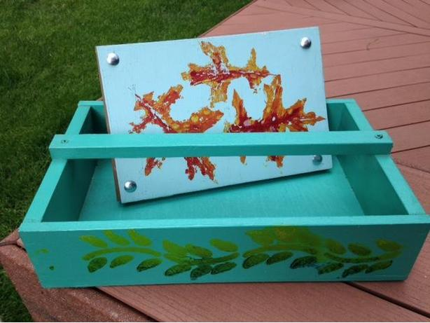 Flower Press & Garden Tool Box