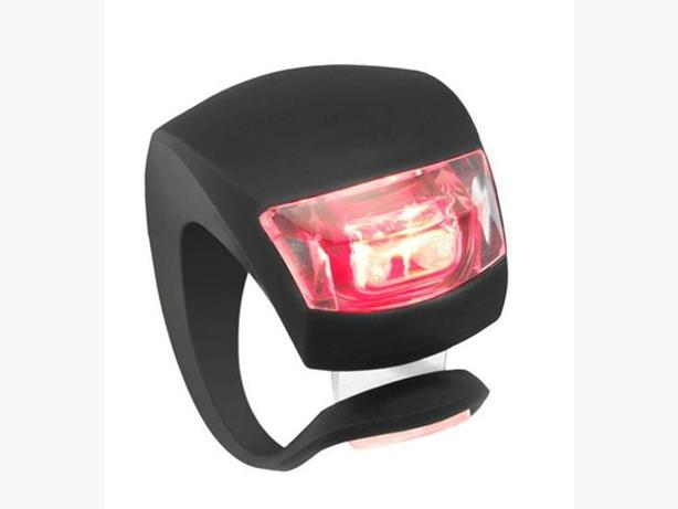 Black Bicycle Bike Rear Safety LED Light - Red Light