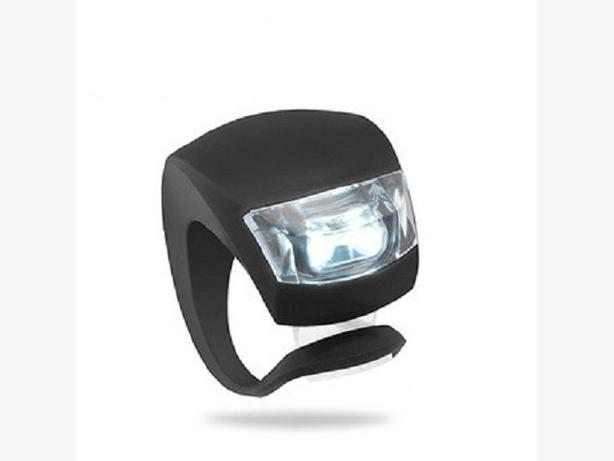 Black Bicycle Bike Front Safety LED Light - White Light