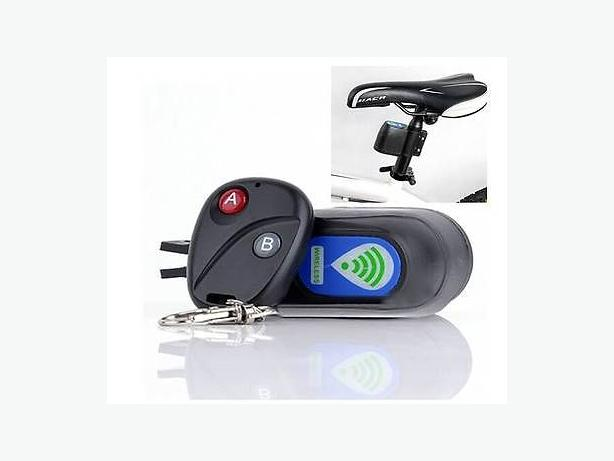 Bicycle Bike Vibration Activated Alarm Sound Lock with Remote