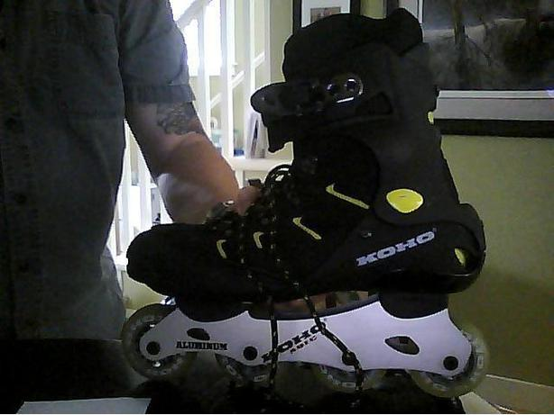 MENS Inline skates used twice-NOT FOR ME