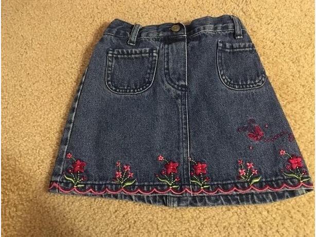 cute jean skirt