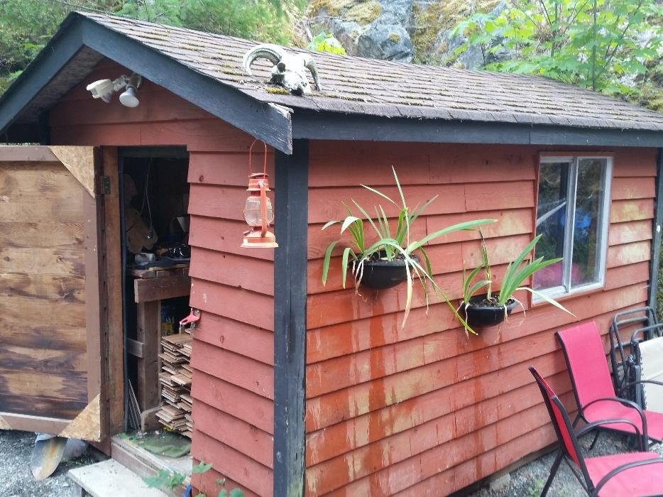 Man Cave Wooden Shed : Man cave garden wood shed reduced shawnigan lake cowichan