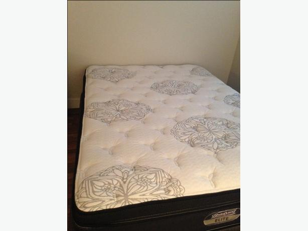 Like New Simmons Beautyrest Elite Larissa Queen Set