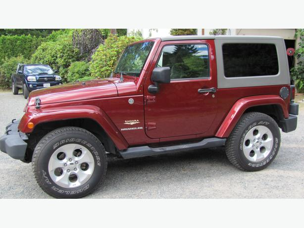 2007 Lava Red 2 door Sahara Wrangler Jeep