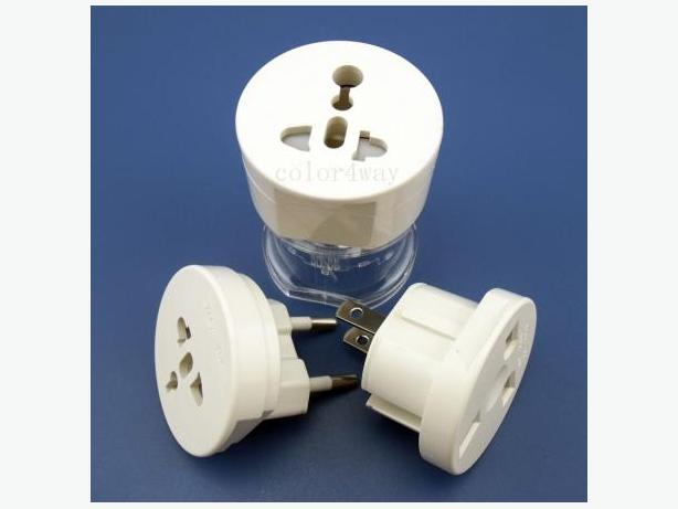3 In 1 International Plug Adapter Converter(US,CAN, EU, ASIA,UK, AU)