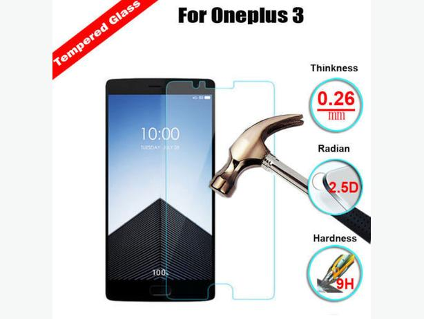 9H+ Premium Tempered Glass Film Screen Protector For Oneplus 3