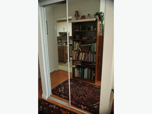 closet doors mirrored bypass style north saanich sidney victoria. Black Bedroom Furniture Sets. Home Design Ideas