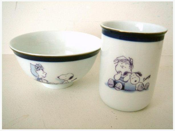 Peanuts Snoopy - 2 Piece Porcelain Bowl & Cup Set