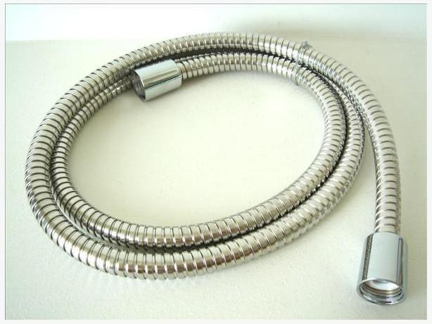 "60"" Faux Metal Handheld Shower Hose - Chrome"