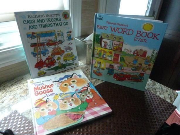 3 Richard Scarry Books