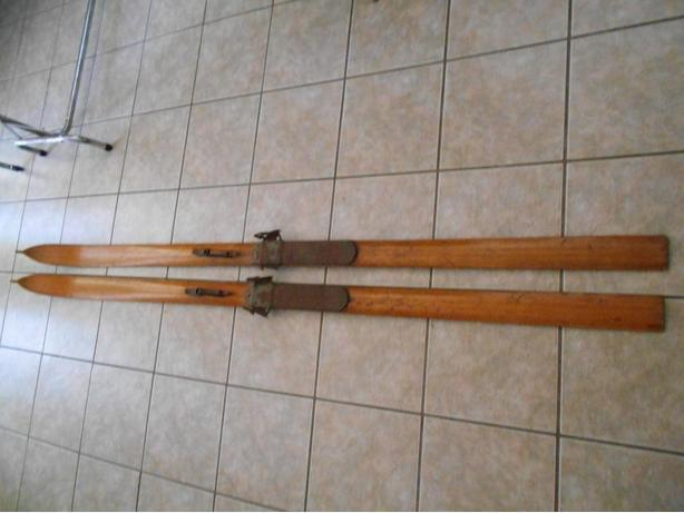Antique Handmade Wooden Skis