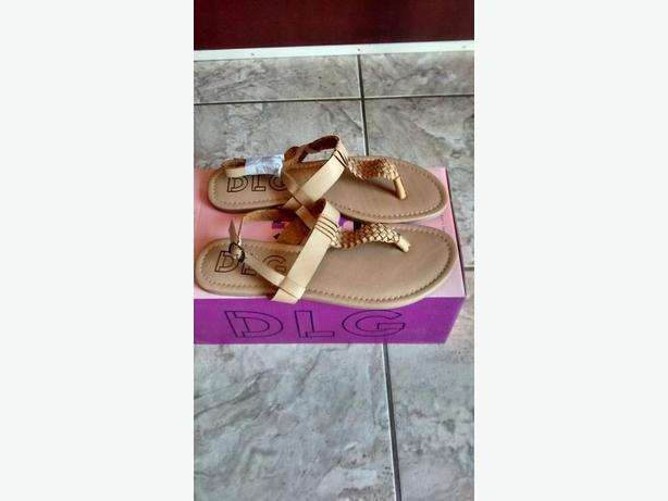 Brand New - Ladies DLG Tan Sandals - Size 9