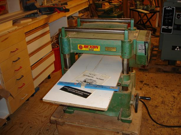"Rexon 16"" thickness planer"