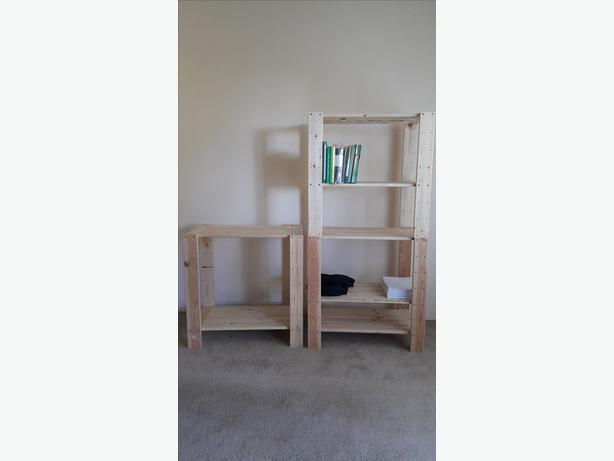 Adjustable Utility Stackable Pine Shelves Saanich Victoria