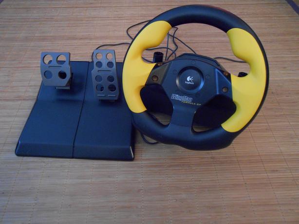 Logitech Wingman Formula GP Steering Wheel & Pedals.