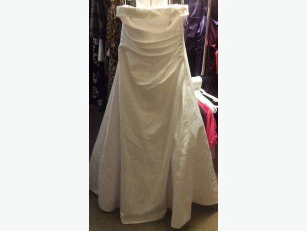Size 14 white wedding dress