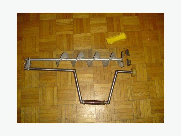 """5"""" Ice auger /sled/ shovel sold together"""