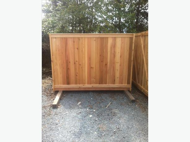 Cedar Quality Fence Panels For Sale Outside Nanaimo Nanaimo