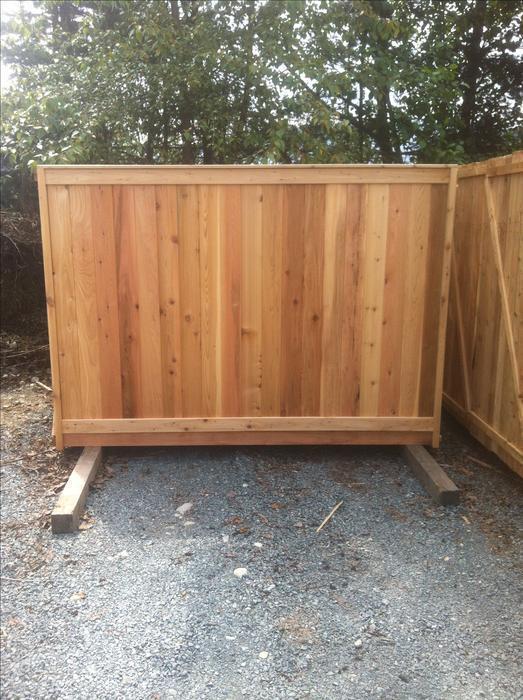 Cedar Quality Fence Panels For Sale Outside Nanaimo Nanaimo