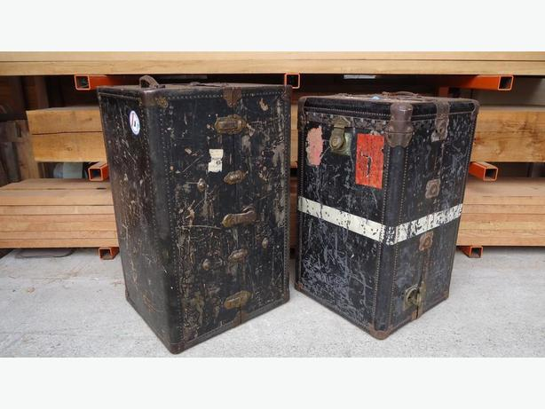 Antique Wardrobe Trunks - early 1900's