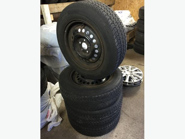 [4] - 195/65/15 - Motomaster AW All Season Tires & Rims