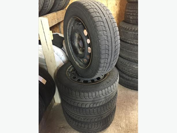 [4] - 205/65/15 - Michelin X-ice Winter Tires & Rims