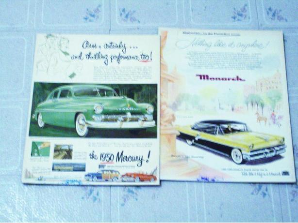ANTIQUE MERCURY CAR ADS