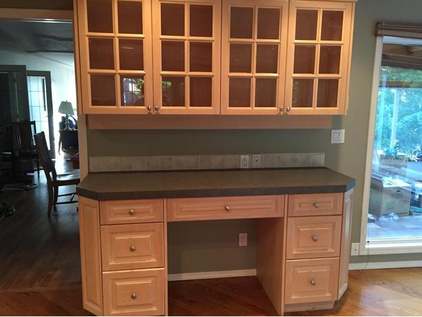 Kitchen cabinets saanich victoria for Bleached maple kitchen cabinets