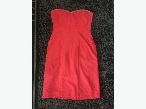 size six bcbg coral dress