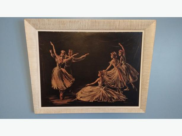 PICTURE FRAME OF BALLET DANCERS - VINTAGE 1940's