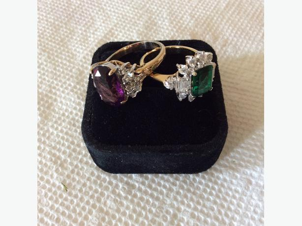 PRETTY VINTAGE GOLD PLATED RINGS - $10.00 EACH