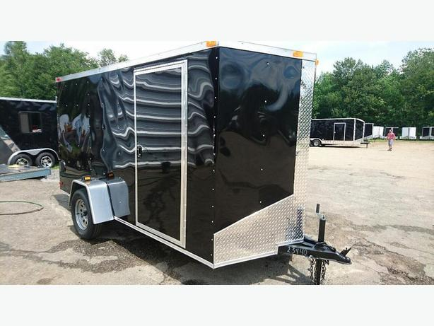 NEW 6X12 + V NOSE SINGLE AXLE ENCLOSED TRAILERS