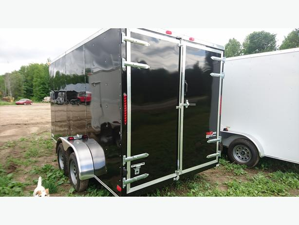 NEW 7X12 + V NOSE ENCLOSED CARGO TRAILERS
