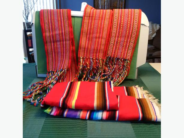 3 Sashes & 1 Mexican Blanket