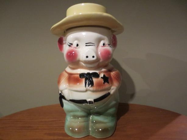 SHERIFF PIG COOKIE JAR (View Sellers List)